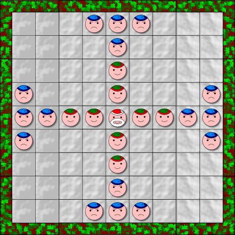 Santa Claus print-and-play game assembled and ready to play (mock-up).