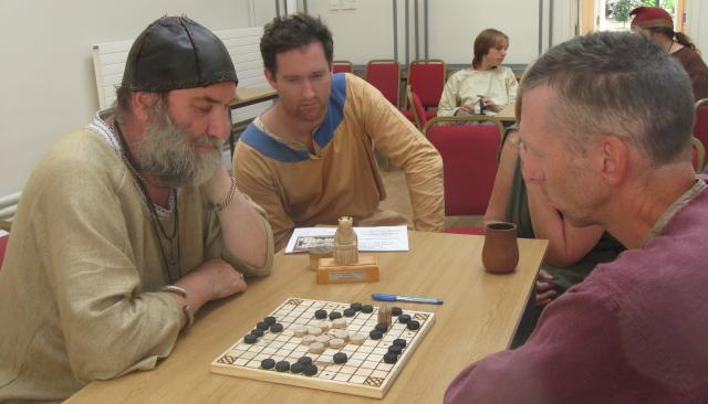 Hnefatafl event at Sutton Hoo.