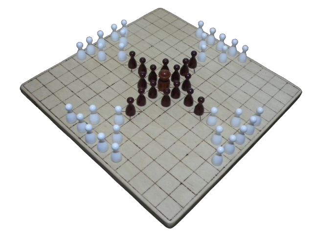 A 13x13 hnefatafl board made in 2013