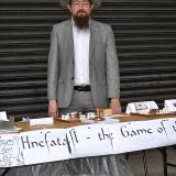 The hnefatafl stall at Princes Avenue Festival