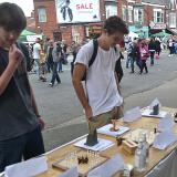 Two new hnefatafl enthusiasts at Princes Avenue Festival