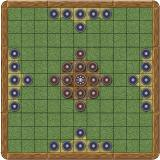 York hnefatafl assembled and ready to play (mockup)