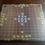RomBol Hnefatafl set up for a game