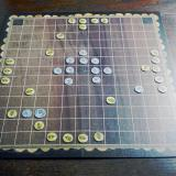 A RomBol hnefatafl game in progress.