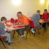 Four of the contestants at the Hull Hnefatafl Tournament 2017