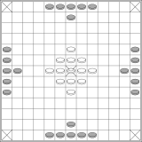 Diamond-centred 13x13 layout