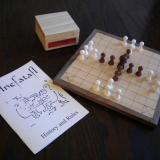The Deluxe 25-piece Hnefatafl Game, ready for play.