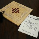 Basic 37-piece Hnefatafl Game set out for play.