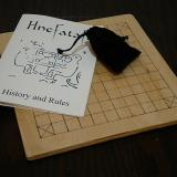 Basic 37-piece hnefatafl game, ready to store.