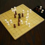 Classic 25-piece Hnefatafl Game in play