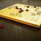 Close-up of Basic 25-piece Hnefatafl Game in play