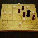 Classic 13-piece Hnefatafl Game in play