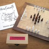 Compact 37-piece Hnefatafl Game
