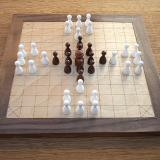 Compact 37-piece Hnefatafl Game with R. C. Bell's layout