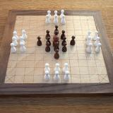 Compact 37-piece Hnefatafl Game with A. Nielsen's layout