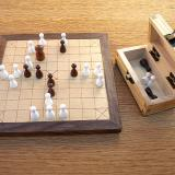 Compact 25-piece Hnefatafl Game, with game in progress